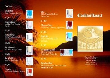 Cocktailkaart - The Saloon