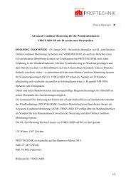 1/2 Press Release Advanced Condition Monitoring für ... - Pruftechnik