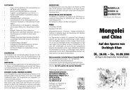 Mongolei - Volkshochschule im Norden des Landkreises München