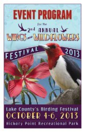 2013 Festival Events & Activities Program - Wings and Wildflowers ...