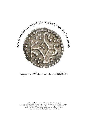 MA Modul Lateinische Literatur und Sprache bis zum Hochmittelalter