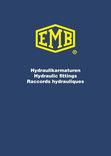 Hydraulikarmaturen Hydraulic fittings Raccords hydrauliques
