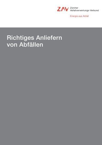 ZAV Richtige Anlieferung Abfaelle - Kehrichtverwertung Zürcher ...