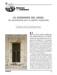 LA ECONOMÍA DEL AGUA: - Universidad Autónoma de Chihuahua