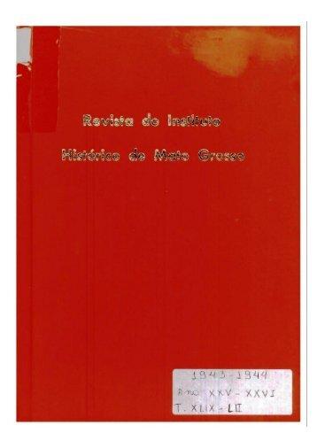 Revista 26 - Instituto Histórico e Geográfico de Mato Grosso