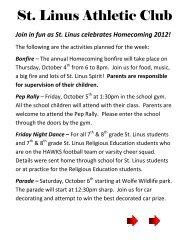 St. Linus Athletic Club - St. Linus School