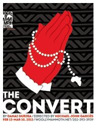 Read The Convert playbill - Woolly Mammoth Theatre Company
