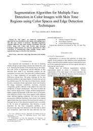 Segmentation Algorithm for Multiple Face Detection in Color ... - ijcte