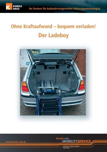 "Datenblatt ""Der Ladeboy"" - Kienzle Reha"