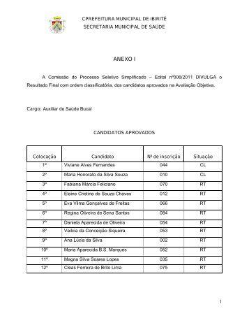 Anexo I, II,III, IV e V Resultado Final Edital nº006 de 2011.pdf