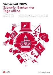 Sicherheit 2025 Szenario: Banken vier Tage offline - Z_punkt