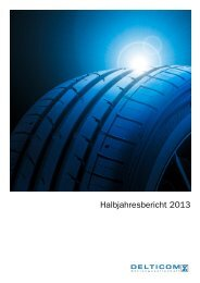 Halbjahresbericht 2013 - Delticom AG
