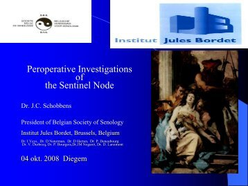 Peroperative investigation of the sentinel node