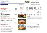 Marquee Hire Prices List and Tent Rental Guide 2013 - Bigtopmania