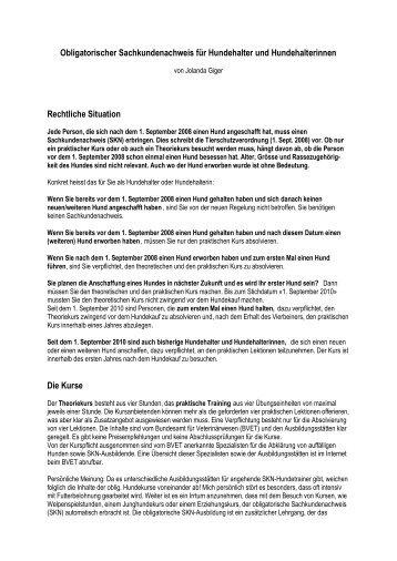 Infos zum obl. Sachkundenachweis - jagdspezifisch