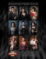 Download 2013 Festival Program - Independent Shakespeare Co.