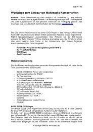 Workshop zum Einbau von Multimedia Komponenten - Scoty.de