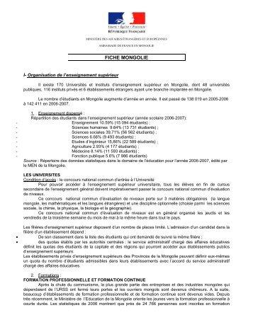 Fiche Mongolie 2007 - France-Diplomatie-Ministère des Affaires ...
