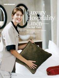 Luxury Hospitality Linen - The Bed Wars - LaundryExperts.biz
