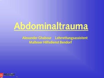 Ursachen für ein Abdominaltrauma - Intern