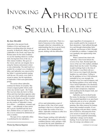 Aphrodite and Sexual Healing - Reclaiming Quarterly