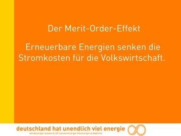 Der Merit-Order-Effekt Erneuerbare Energien senken die ...