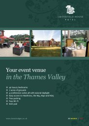 Download a pdf of our events brochure here. - Classic Lodges