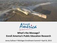 Enroll America's Public Education Research - Michigan Consumers ...