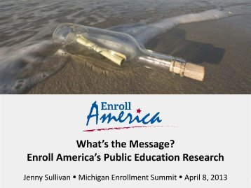 Enroll America's Public Education Research - Michigan Consumers ...