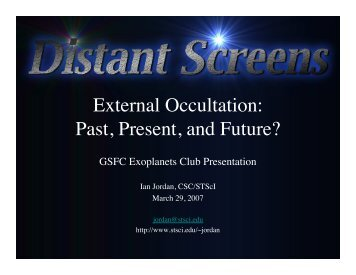 External Occultation: Past, Present, and Future? - umbras