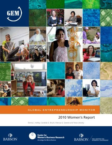 2010 Women's Report - Global Entrepreneurship Monitor
