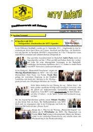 Neue Ausgabe von MTV Intern (18/2011) - MTV Gifhorn