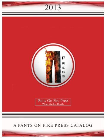 catalog - Pants On Fire Press
