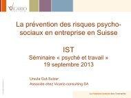 Prévention risques RPS en entreprise - Ursula Gut-Sulzer