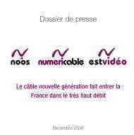 Dossier de presse -  Numericable