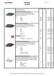 Preisliste 8 2013 August 13.9.2013 - ISO-QUICK Schwimmbadtechnik