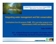 Integrating water management and fish conservation: - epbrs