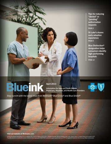 Blue Ink - Wellmark Blue Cross and Blue Shield