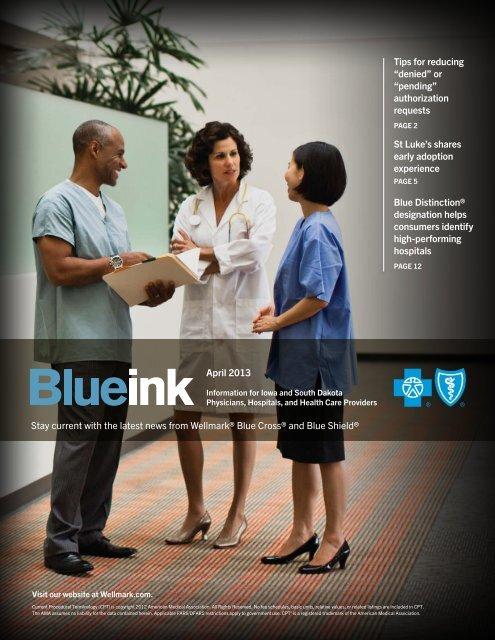 Blue Ink - Wellmark Blue Cross and Blue Shield