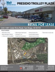 RETAIL FOR LEASE PRESIDIO TROLLEY PLAZA