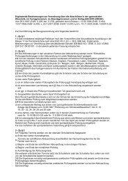 Ergänzende Bestimmungen zur Verordnung über die Abschlüsse in ...