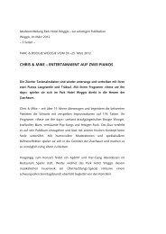 CHRIS & MIKE – ENTERTAINMENT AUF ZWEI PIANOS - Park Weggis