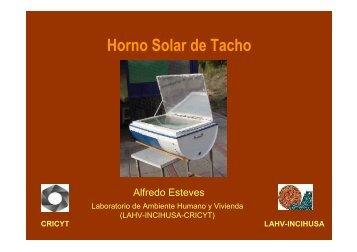 Horno solar tacho - Taller Ecologista