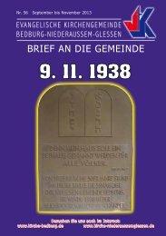 BRIEF AN DIE GEMEINDE - Evangelisch in Bedburg