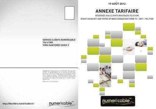 Annexe Tarifaire Numericable