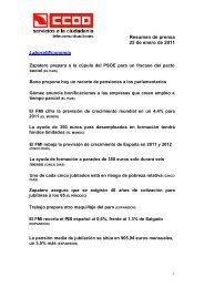 Resumen de prensa 25 de enero de 2011 Laboral/Economía