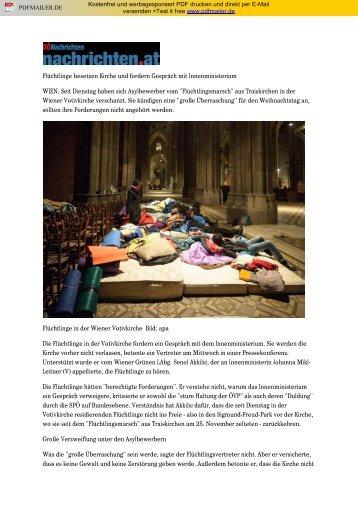 Flüchtlinge besetzen Kirche und fordern Gespräch mit ...