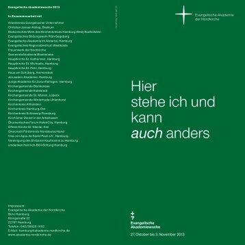 Programmheft - Evangelische Akademie der Nordkirche