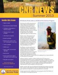 UW-Stevens Point CNR Summer 2013 Newsletter for website .pdf