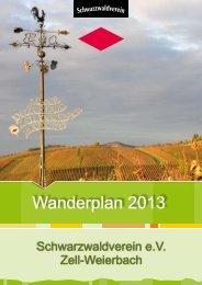 Wanderplan 2013 - SWV Zell-Weierbach